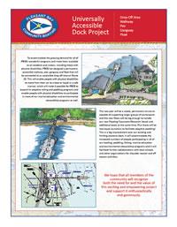 Universally Accessible Dock Project - Drop-Off Area Walkway Pier Gangway Float (PDF)